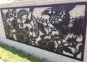Mockingbirds and Blue Birds- Installed Panel
